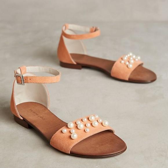 acea78101c3e Anthropologie Morena Gabbrielli Pearl Sandals